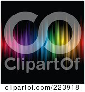 Royalty Free RF Clipart Illustration Of An Array Of Colors On A Black Background 2
