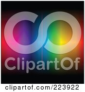Royalty-Free (RF) Clipart Illustration of an Array Of Colors On A Black Background - 3 by cidepix