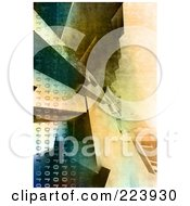 Royalty Free RF Clipart Illustration Of A 3d Background Of Binary And Architectural Walls