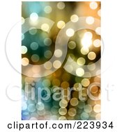 Royalty Free RF Clipart Illustration Of A Background Of Sparkly Lights In Golden Tones