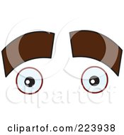 Royalty Free RF Clipart Illustration Of A Pair Of Thick Eyebrows Over Eyes by yayayoyo