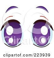 Royalty Free RF Clipart Illustration Of A Pair Of Pleading Purple Eyes