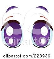 Royalty Free RF Clipart Illustration Of A Pair Of Pleading Purple Eyes by yayayoyo