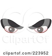 Royalty Free RF Clipart Illustration Of A Pair Of Mean Brown Male Eyes by yayayoyo