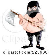 Royalty Free RF Clipart Illustration Of An Execution Man Holding An Ax by yayayoyo