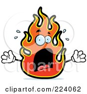 Royalty Free RF Clipart Illustration Of A Screaming Fire by Cory Thoman