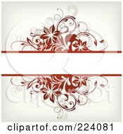 Text Bar Bordered In Brown Flowers And Grunge