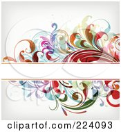 Royalty Free RF Clipart Illustration Of A Floral Grunge Background With Text Space 7