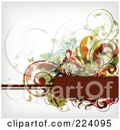 Royalty Free RF Clipart Illustration Of A Floral Grunge Background With Text Space 9