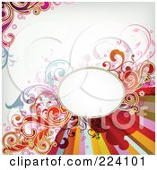 Royalty Free RF Clipart Illustration Of A Floral Grunge Background With Text Space 8