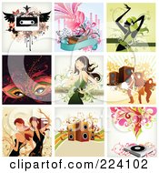 Royalty Free RF Clipart Illustration Of A Digital Collage Of Background Designs 7