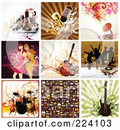 Royalty Free RF Clipart Illustration Of A Digital Collage Of Background Designs 5