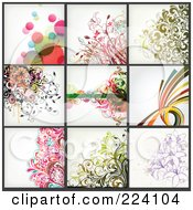 Digital Collage Of Background Designs 13