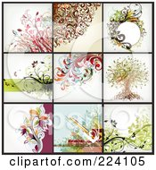 Royalty Free RF Clipart Illustration Of A Digital Collage Of Background Designs 14 by OnFocusMedia