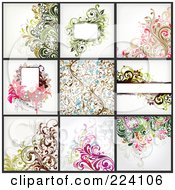 Digital Collage Of Background Designs 12