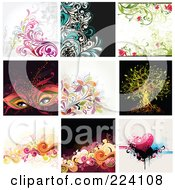 Royalty Free RF Clipart Illustration Of A Digital Collage Of Background Designs 3