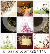 Digital Collage Of Background Designs 9
