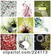 Royalty Free RF Clipart Illustration Of A Digital Collage Of Background Designs 6