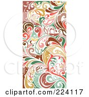 Colorful Vertical Flourish Border