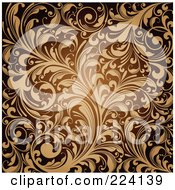 Royalty Free RF Clipart Illustration Of A Flourish Pattern Background 4