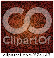 Royalty Free RF Clipart Illustration Of A Flourish Pattern Background 7