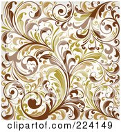 Royalty Free RF Clipart Illustration Of A Flourish Pattern Background 2