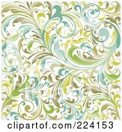 Royalty Free RF Clipart Illustration Of A Flourish Pattern Background 1