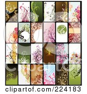 Royalty Free RF Clipart Illustration Of A Digital Collage Of Background Or Business Card Designs