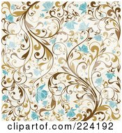 Royalty Free RF Clipart Illustration Of A Flourish Pattern Background 3