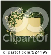 Royalty Free RF Clipart Illustration Of A Floral Grunge Background With Text Space 4