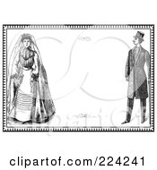 Royalty Free RF Clipart Illustration Of A Vintage Wedding Invitation Design