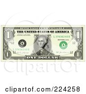 One Dollar Bill Greenback