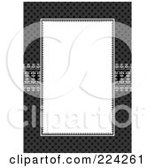 Royalty Free RF Clipart Illustration Of An Invitation Template With Copyspace 17