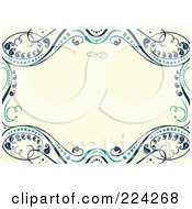 Royalty Free RF Clipart Illustration Of An Invitation Template With Copyspace 9