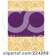 Royalty Free RF Clipart Illustration Of A Floral Invitation Template With Copyspace 6