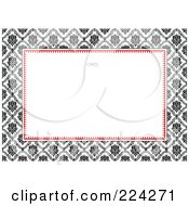 Royalty Free RF Clipart Illustration Of A Floral Invitation Template With Copyspace 11