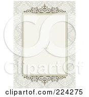 Royalty Free RF Clipart Illustration Of An Invitation Template With Copyspace 22