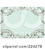 Royalty Free RF Clipart Illustration Of An Invitation Template With Copyspace 24