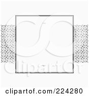 Royalty Free RF Clipart Illustration Of An Invitation Template With Copyspace 6