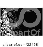 Royalty Free RF Clipart Illustration Of A Floral Invitation Template With Copyspace 3