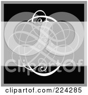 Royalty Free RF Clipart Illustration Of A Swirl Invitation Template With Copyspace 14