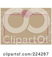 Royalty Free RF Clipart Illustration Of A Swirl Invitation Template With Copyspace 7