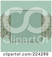 Royalty Free RF Clipart Illustration Of An Invitation Template With Copyspace 14