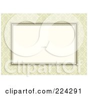 Royalty Free RF Clipart Illustration Of An Invitation Template With Copyspace 8