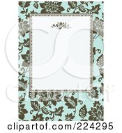 Royalty Free RF Clipart Illustration Of A Floral Invitation Template With Copyspace 1