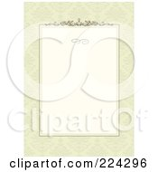 Royalty Free RF Clipart Illustration Of An Invitation Template With Copyspace 23