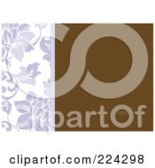 Royalty Free RF Clipart Illustration Of A Floral Invitation Template With Copyspace 4