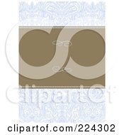 Royalty Free RF Clipart Illustration Of A Floral Invitation Template With Copyspace 20