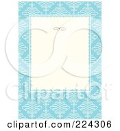 Royalty Free RF Clipart Illustration Of A Swirl Invitation Template With Copyspace 6