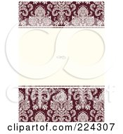 Royalty Free RF Clipart Illustration Of A Floral Invitation Template With Copyspace 8